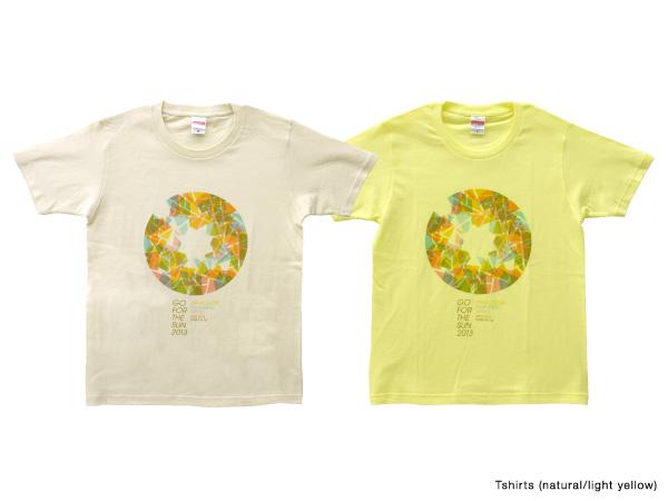 Tシャツ(ナチュラル/ライトイエロー)